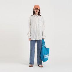 modern stripe linen shirt (3colors)