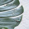 [925실버+아쿠아마린] anna silver necklace