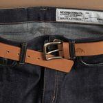 No.1 Brass Belt - Golden tan