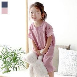 마켓블링 YOEREUM 아동 무지린넨원피스 MKB018