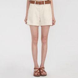 linen roll up half pants (s m l)