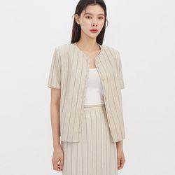 modern half linen jacket