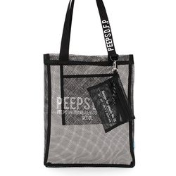 [핍스] PEEPS basic mesh cross bag(black)