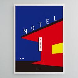 유니크 인테리어 디자인 포스터 M 모텔 A1(특대형)