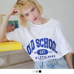 [반팔추가증정] 올드스쿨 오버핏 반팔 티셔츠 (3color)