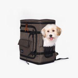 강아지 카시트백팩 Dog Carseat Backpack(Khaki)