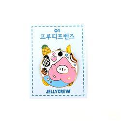 [금액대별 사은품] 젤리크루 프루띠프렌즈 금속뱃지