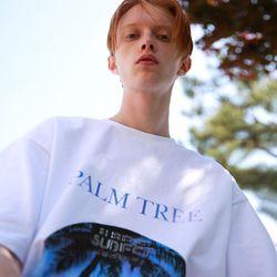 [반팔추가증정] 팜트리 플레닛 오버핏 반팔 티셔츠 (3color)