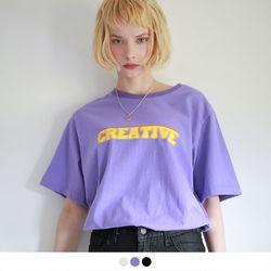 [반팔추가증정] 크리에이티브 오버핏 반팔 티셔츠 (3color)