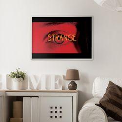 strange - A2 인테리어 메탈액자