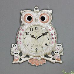 (kspz234)스틸리아 부엉이 시계 핑크S