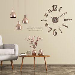 럭셔리한 무소음벽시계 DIY시계 클래식 스톤브론즈
