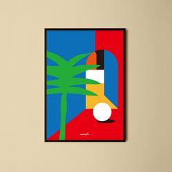 유니크 인테리어 디자인 포스터 M 외출 A2(대형)