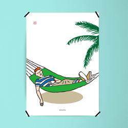 유니크 인테리어 디자인 포스터 M 쉼 A2(대형)