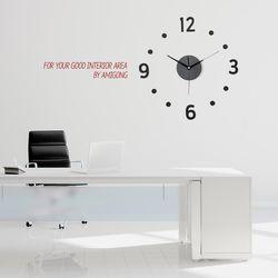 심플 인테리어벽시계 DIY 무소음시계 도트블랙