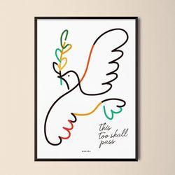 인테리어 디자인 포스터 이또한지나가리라2 A2(대형)