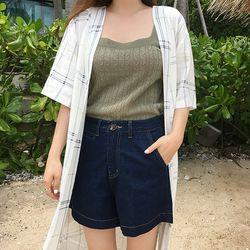glow half cotton pants (s m)