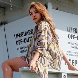 [오를로] ORWJ113 여성 여름 로브 가운 코디 옷
