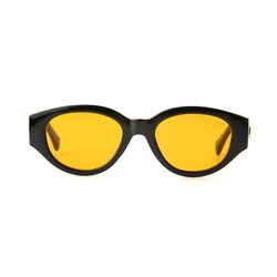 D.fox Original Glossy Black Orange Tint Lens