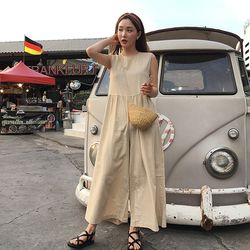 mos linen wide jumpsuit