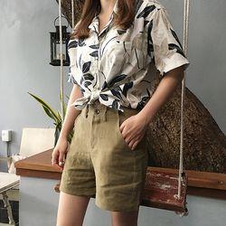 mood linen half pants (s m)