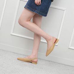 [쿠루] 여성 2cm 기본라인 슬링백 플랫슈즈 G7070