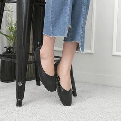 [쿠루] 여성 1.5cm 발등 v 컷팅 플랫슈즈 G7046