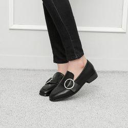 [쿠루] 여성 3cm 버클 스트랩 로퍼 G7036