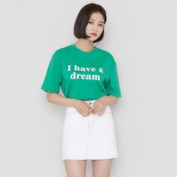 [로코식스] 드림 레터링 티셔츠