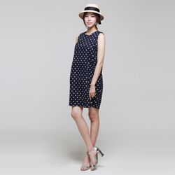 Linen Dot Volume Dress