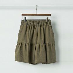 Linen Shirring Shorts