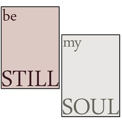 영혼의 반쪽 - 부부를 위한 커플포스터 (a4)