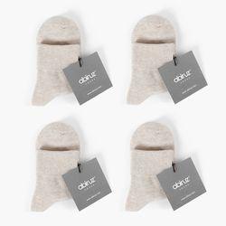 오트밀 여성용 기본양말 4종세트