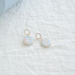 [925실버+파스텔] flang silver earring