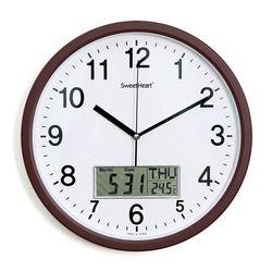 무소음카렌다벽시계350브라운