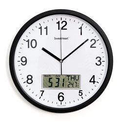 무소음카렌다벽시계350블랙