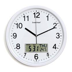 무소음카렌다벽시계350화이트