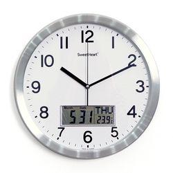 무소음알루미늄카렌다벽시계350