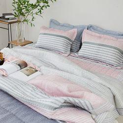 볼드 샤카리플 여름차렵베딩-핑크-더블기본세트