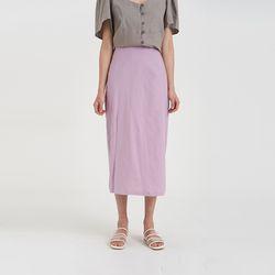 one slit linen skirt (5colors)