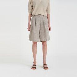 linen pintuck half pants (3colors)
