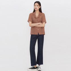 minimal linen half shirts