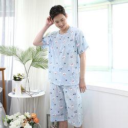 쁘띠쁘랑드리밍펭귄면혼방 남성잠옷