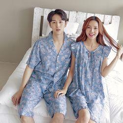 [무료배송] 쁘띠쁘랑트로피칼 커플잠옷캐쥬얼