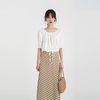 banding crop string blouse (2colors)