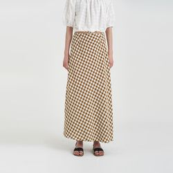 check maxi skirt (2colors)