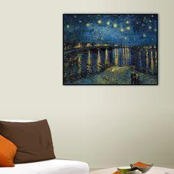 론강의 별이 빛나는 밤 40.6x30.5cm