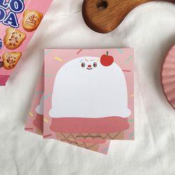 yougurt cherry icecream memo