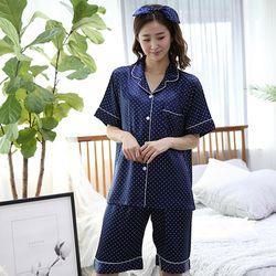 쁘띠쁘랑도트실크 반팔 여성잠옷