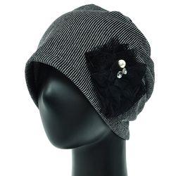 [더그레이S]NKS02.골지 비즈장식 여성 비니 엄마 모자